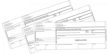 Grafika składająca się z przykładowych druków wpłaty opłaty za gospodarowanie odpadami