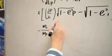 Równanie matematyczne na tablicy
