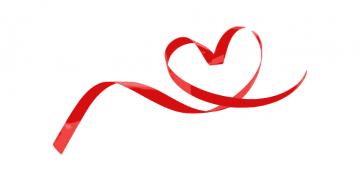 Czerwona wstążka w kształcie serca