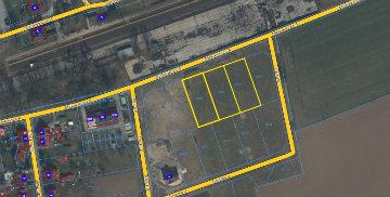 Mapa z naniesionymi lokalizacjami nieruchomości do sprzedaży