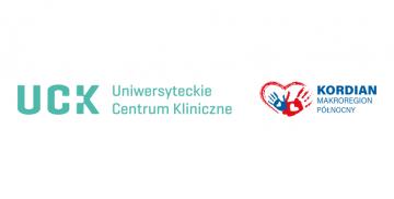 Logotyp Uniwersyteckiego Centrum Klinicznego i programu KORDIAN