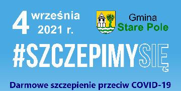 Plakat informujący o akcji szczepienia przeciwko COVID-19
