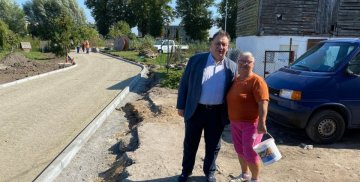 Przebudowa drogi w miejscowości Kaczynos
