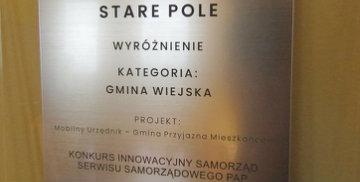Gmina Stare Pole z wyróżnieniem!